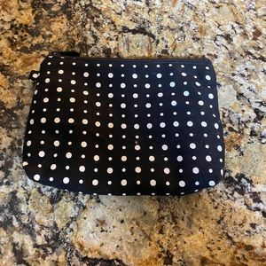 Thirty-One Zip Up Polka Dot Pouch Makeup Bag